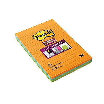 Post-it Haftnotiz Super Sticky Notes 46453SSA sortiert 3 St./Pack.