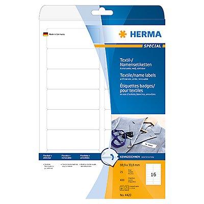HERMA Textiletikett 4420 88,9x33,8mm Seide ws 400 St./Pack.