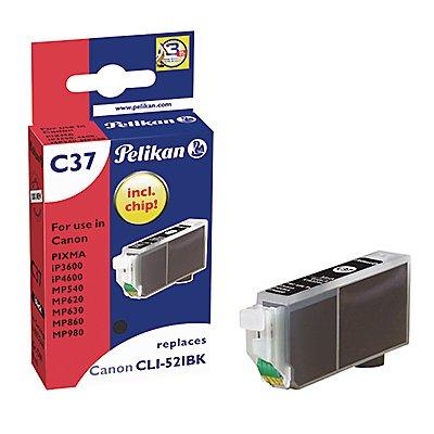 Pelikan Tintenpatrone 4103246 C37 wie Canon CLI521BK schwarz