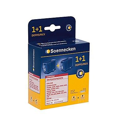 Soennecken Tintenpatrone 80149 Gr.1504 wie PGI5BK sw 2 St./Pack.