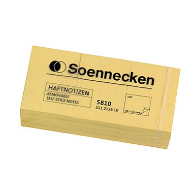 Soennecken Haftnotiz 5810 38x51mm hellgelb 12 St./Pack.