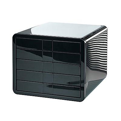 HAN Schubladenbox i-Box 1551-13 DIN C4 5Schubfächer schwarz