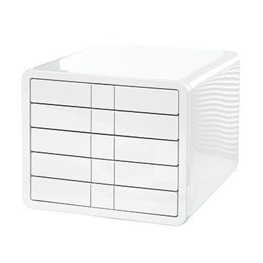 HAN Schubladenbox i-Box 1551-12 DIN C4 5Schubfächer weiß