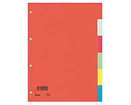Bene Register 97410 blanko DIN A4 10teilig Karton farbig