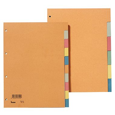 Bene Register 97400 blanko DIN A4 6teilig Karton farbig