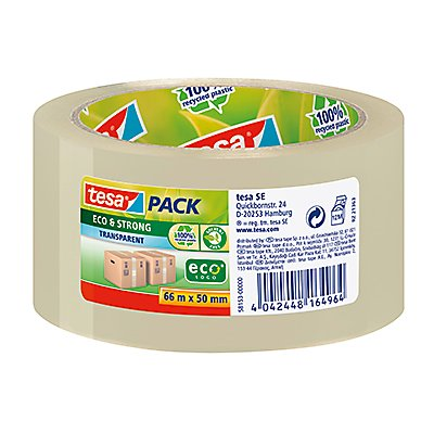 tesa Packband tesapack Eco & Strong 58153-00000 50mmx66m transparent