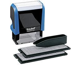 trodat Textstempel Typo Printy 4912 typo 47x18mm schwarz/blau