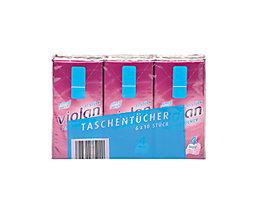 fripa Papiertaschentuch Violan 6010605 21x21cm weiß 6x10 St./Pack.