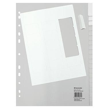 Soennecken Register 1518 DIN A4 blanko volle Höhe 12Blatt PP grau