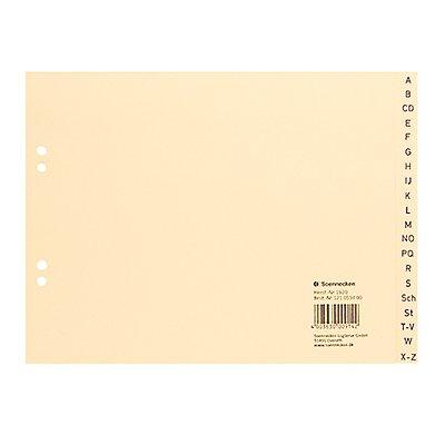 Soennecken Register 1920 DIN A4 A-Z halbe Höhe Papier chamois