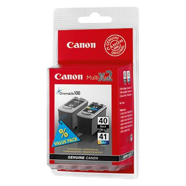 Canon Tintenpatrone PG40+CL41 sw/farbig 2 St./Pack.
