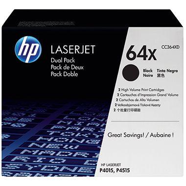 HP Toner CC364XD 64X 24.000Seiten schwarz 2 St./Pack.