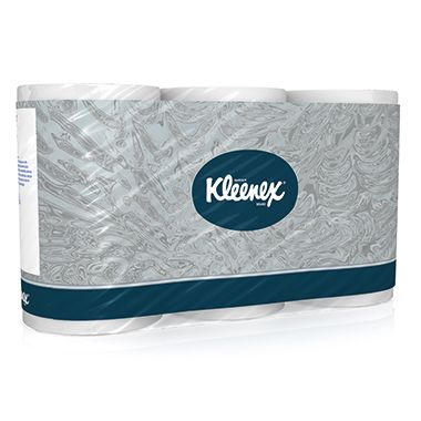 Kleenex Toilettenpapier 8440 3lagig 350Blatt weiß 6Rl./Pack.