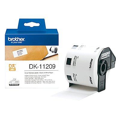 Brother Etikett DK11209 29x62mm weiß 800 St./Rl.