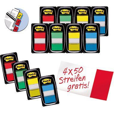 Post-it Haftstreifen Index 680-P12 Promotion farbig 12 St./Pack.