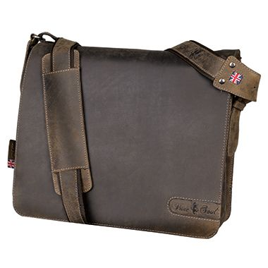 Pride & Soul Notebooktasche BEN 47138 37x33x14cm Echtleder braun