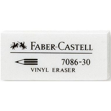 Faber-Castell Radierer 7086-30 188730 18x12x41mm Kunststoff weiß