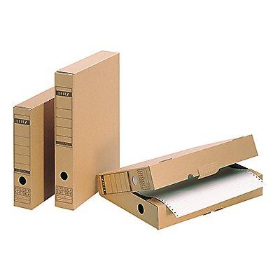 Leitz Archivbox 60840000 DIN A4 max. 63mm Wellpappe naturbraun