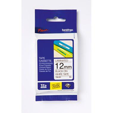 P-touch Schriftbandkassette TZE261 36mmx8m laminiert sw auf ws