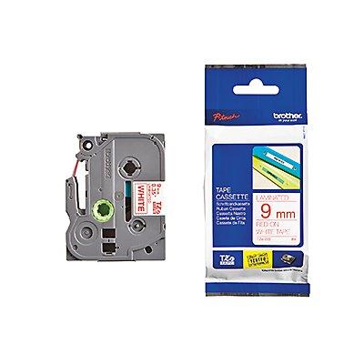P-touch Schriftbandkassette TZE222 9mmx8m laminiert rt auf ws