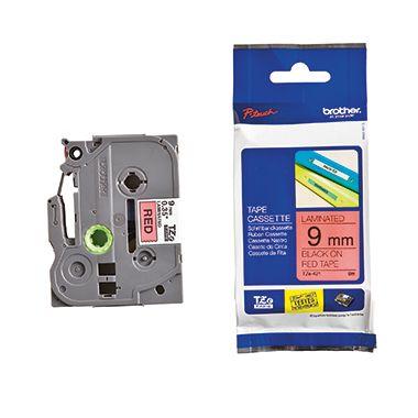 P-touch Schriftbandkassette TZE421 9mmx8m laminiert sw auf rt