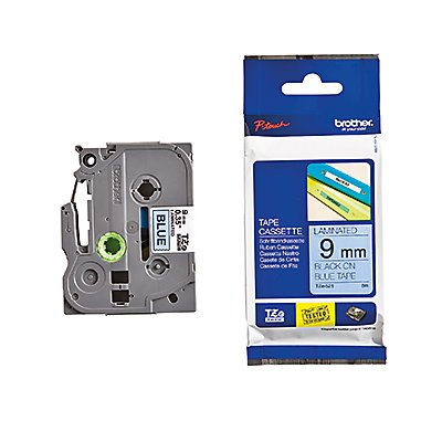 P-touch Schriftbandkassette TZE521 9mmx8m laminiert sw auf bl