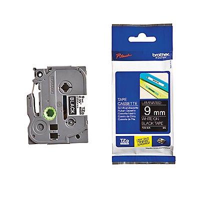 P-touch Schriftbandkassette TZE325 9mmx8m laminiert ws auf sw