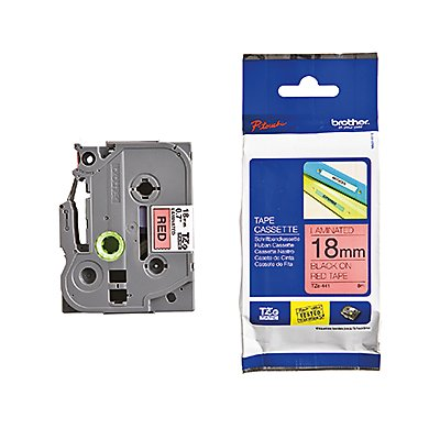 P-touch Schriftbandkassette TZE441 18mmx8m laminiert sw auf rt