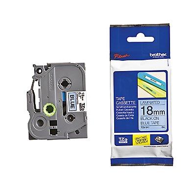 P-touch Schriftbandkassette TZE541 18mmx8m laminiert sw auf blau