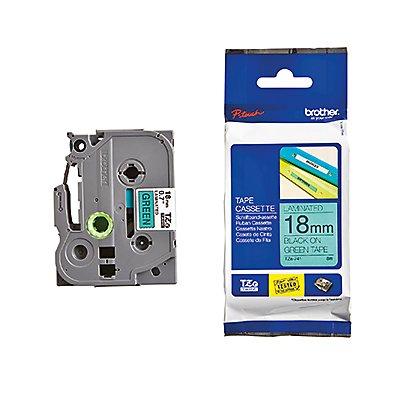 P-touch Schriftbandkassette TZE741 18mmx8m laminiert sw auf gn