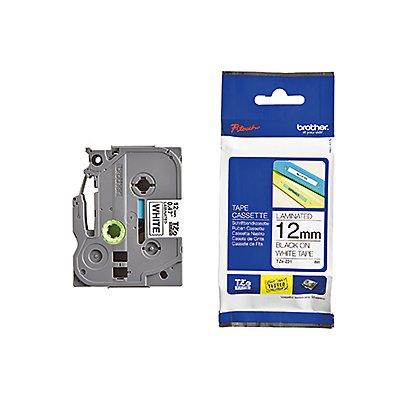 P-touch Schriftbandkassette TZE231 12mmx8m laminiert sw auf ws