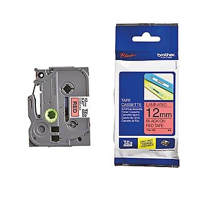 P-touch Schriftbandkassette TZE431 12mmx8m laminiert sw auf rt