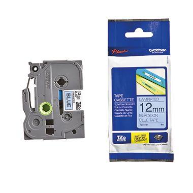 P-touch Schriftbandkassette TZE531 12mmx8m laminiert sw auf bl