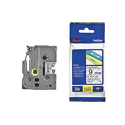 P-touch Schriftbandkassette TZE121 9mmx8m laminiert sw auf fl