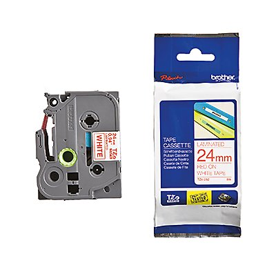 P-touch Schriftbandkassette TZE252 24mmx8m laminiert rt auf ws