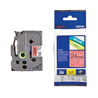 P-touch Schriftbandkassette TZE451 24mmx8m laminiert sw auf rt