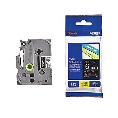 P-touch Schriftbandkassette TZE315 6mmx8m laminiert ws auf sw