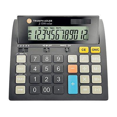 TWEN Tischrechner J-1200 12Zeichen Solar/Batterie