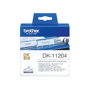 Brother Etikett QL-500 DK11204 17x54mm weiß