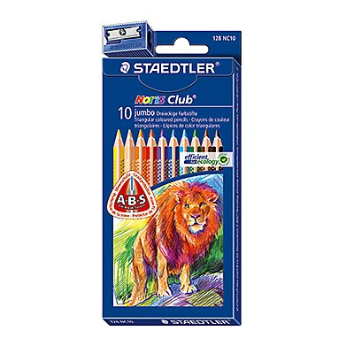 STAEDTLER Farbstift Noris Club jumbo 128 NC10 sort. 10 St./Pack.