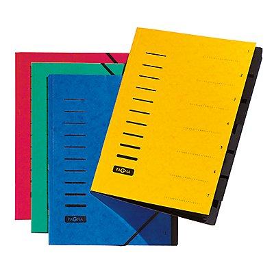 PAGNA Ordnungsmappe 40058-03 DIN A4 7Fächer Pressspan grün