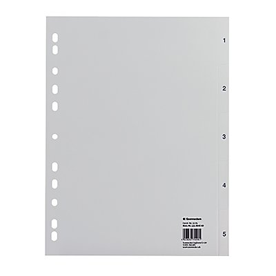 Soennecken Register 1576 DIN A4 1-5 volle Höhe PP grau