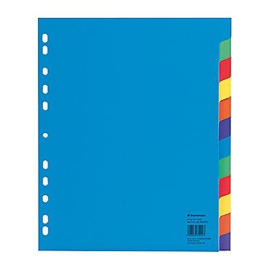 Soennecken Register DIN A4 blanko PP farbig