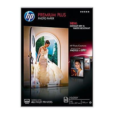 HP Fotopapier Premium Plus CR673A DIN A4 297g weiß 20 Bl./Pack.