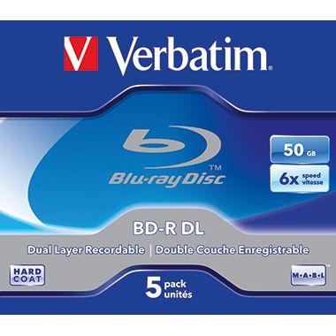 Verbatim BD-R 43748 1-6x 50GB Jewel Case 5 St./Pack.