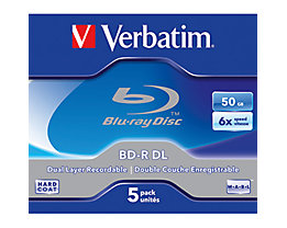 Verbatim BD-R 43748 1-6x 50GB Jewel Case 5 St./Pack.