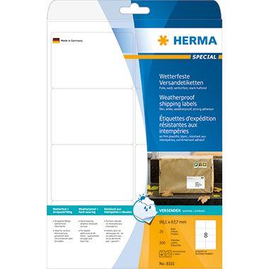 HERMA Folienetikett 8331 99,1x67,7mm weiß 200 St./Pack.