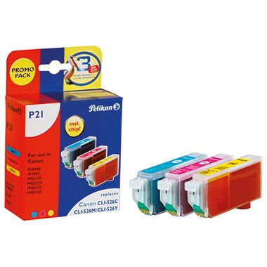 Pelikan Tintenpatrone 4106650 P21 Set wie Canon CLI526 3 St./Pack