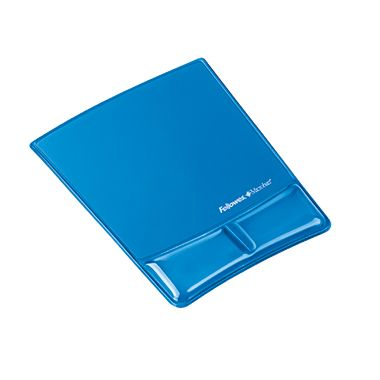 Fellowes Handgelenkauflage Health-V 9182201 Mauspad Crystal Gel blau