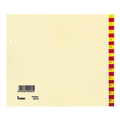Bene Register 93403 A-Z DIN A4 halbe Höhe 24teilig ch Taben rt/ge